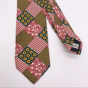 BRIONI Silk Tie Striped Polka Dot Floral Medallion